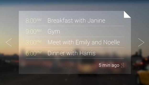 Google Glass Calendar
