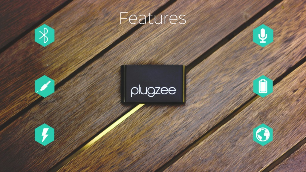 Plugzee Bluetooth Adpter Battery Speaker