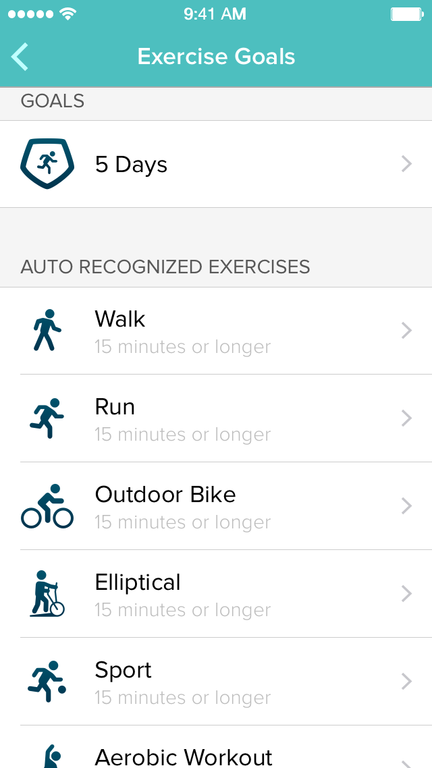 Exercise Goals Fitbit